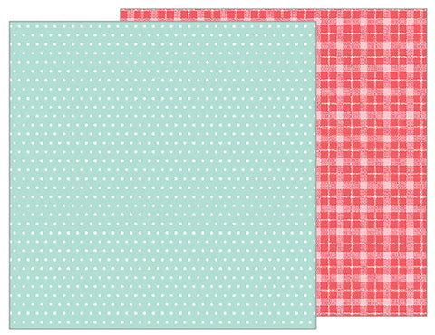 Pebbles Papers - Forever My Always - Mint Dot - 2 Sheets