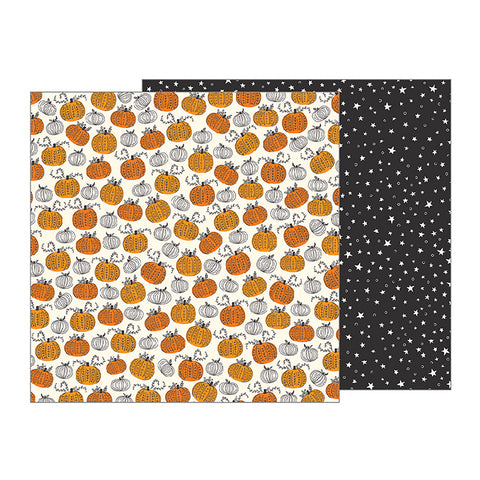 Pebbles Papers - Midnight Haunting - Pumpkin Patch - 2 Sheets