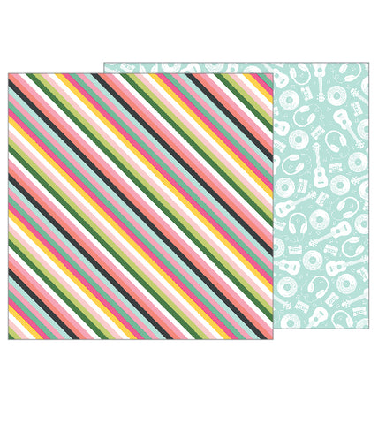 Pebbles Papers - Girl Squad - Good Vibes - 2 Sheets