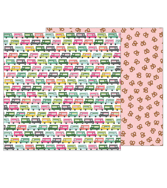 Pebbles Papers - Girl Squad - Lunch on the Go - 2 Sheets