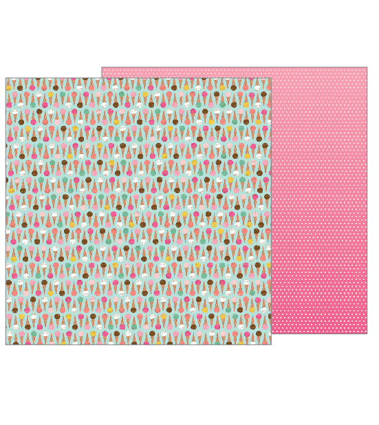 Pebbles Papers - Girl Squad - Cool Treat - 2 Sheets