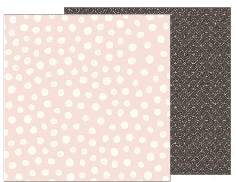 Pebbles Papers - Jen Hadfield - Heart of Home - Painted Dots - 2 Sheets