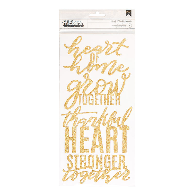 Pebbles Thickers - Jen Hadfield - Heart of Home - Words - Gold Glitter
