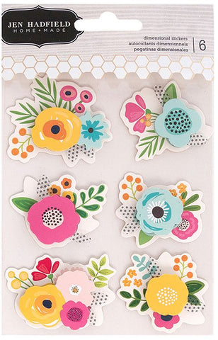 Pebbles Layered Stickers - Jen Hadfield - Patio Party