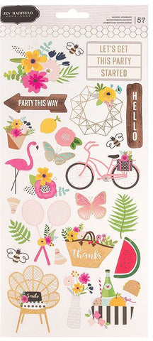 Pebbles Jen Hadfield Cardstock Stickers - Patio Party