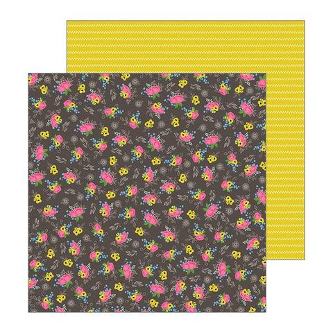 Pebbles Papers - Jen Hadfield - My Bright Life - Stitched Flowers - 2 Sheets