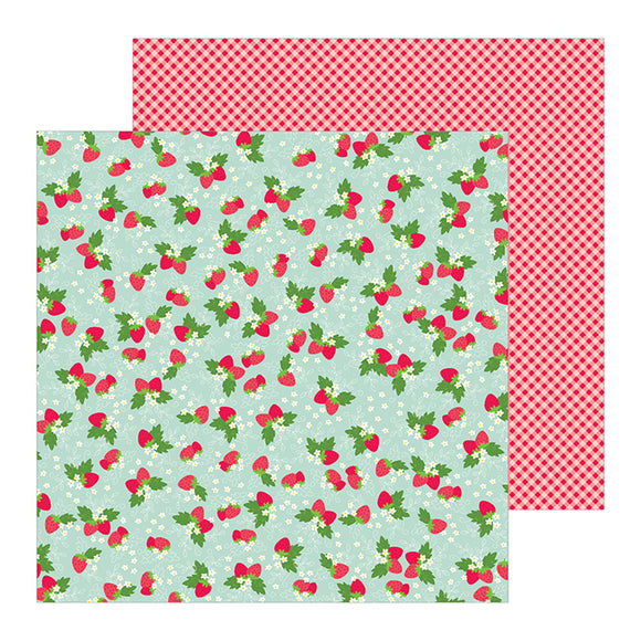 Pebbles Papers - Jen Hadfield - My Bright Life - Strawberry Picnic - 2 Sheets