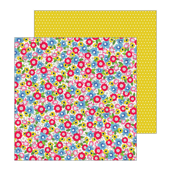 Pebbles Papers - Jen Hadfield - My Bright Life - Field of Flowers - 2 Sheets