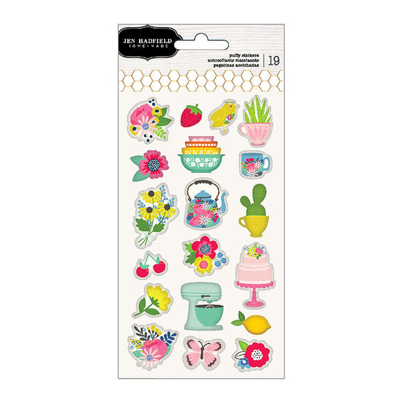 Pebbles Puffy Stickers - Jen Hadfield - My Bright Life