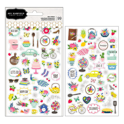 Pebbles Clear Stickers - Jen Hadfield - My Bright Life