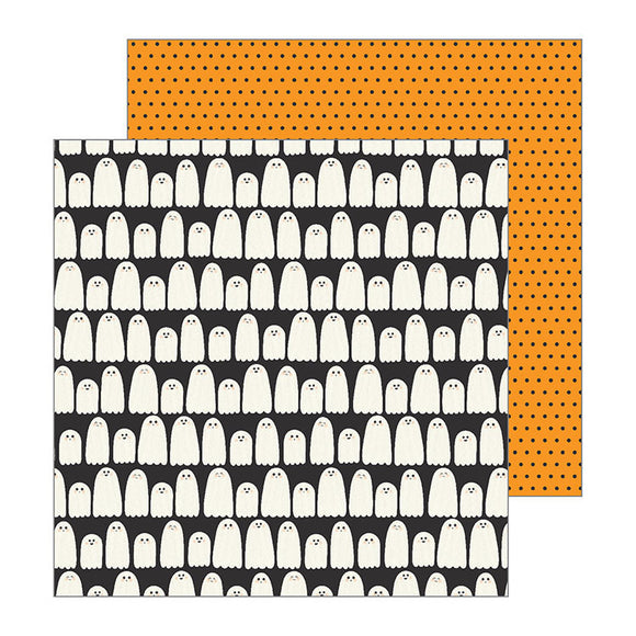 Pebbles Cardstock Papers - Spooky Boo - Boo - 2 Sheets