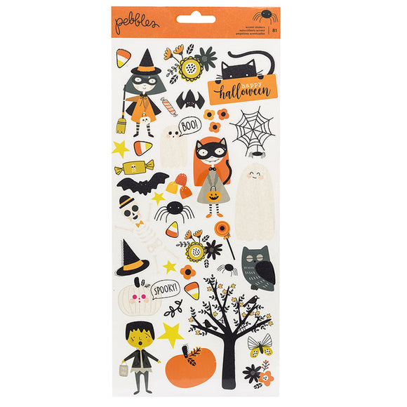 Pebbles Cardstock Stickers - Spooky Boo - Icons