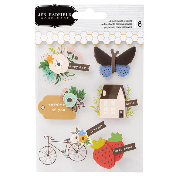 Pebbles Layered Stickers - Jen Hadfield - Along the Way