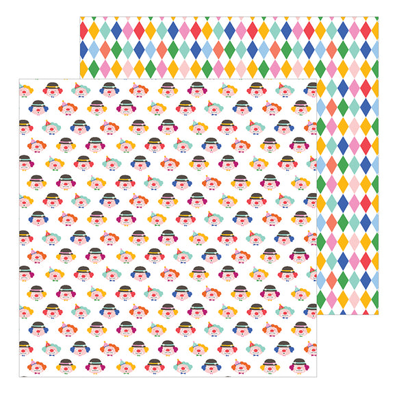 Pebbles Papers - Big Top Dreams - Clowns - 2 Sheets