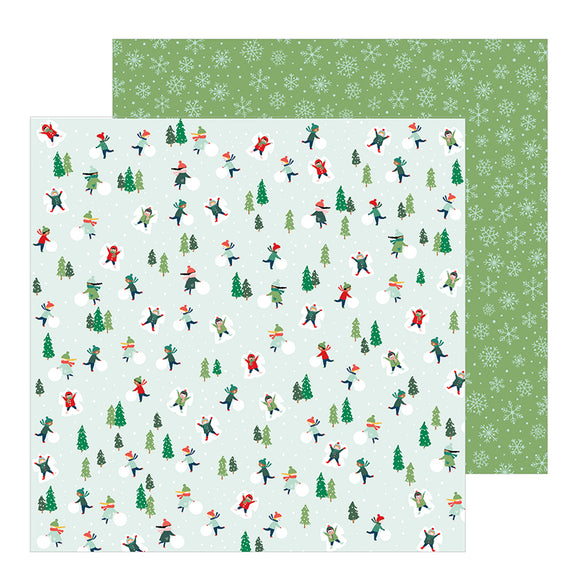 Pebbles Papers - Merry Little Christmas - Snow Day - 2 Sheets