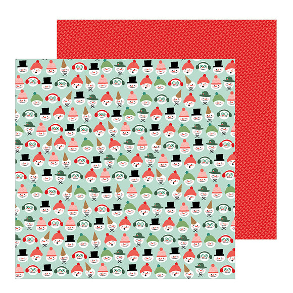 Pebbles Papers - Merry Little Christmas - Snow Friends - 2 Sheets