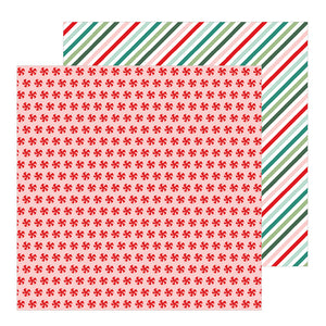 Pebbles Papers - Merry Little Christmas - Peppermint Candies - 2 Sheets
