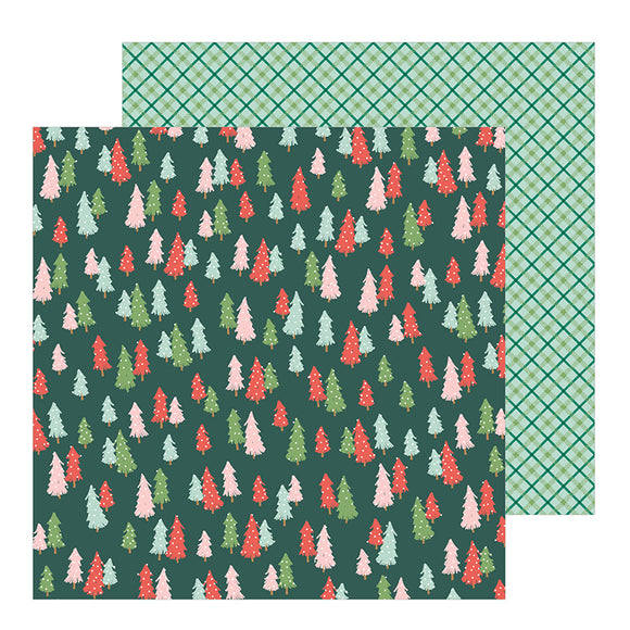 Pebbles Papers - Merry Little Christmas - Oh Christmas Tree - 2 Sheets