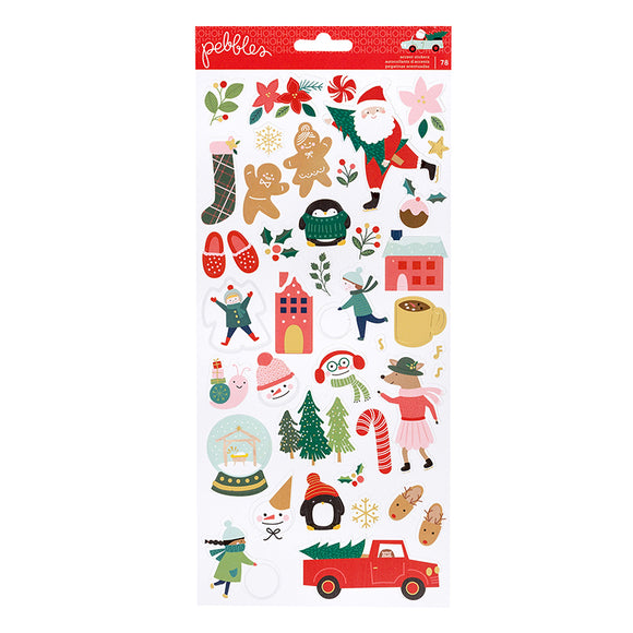 Pebbles Cardstock Stickers - Merry Little Christmas