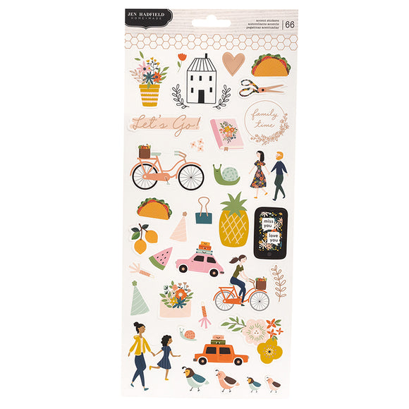 Pebbles Jen Hadfield Cardstock Stickers - This is Family