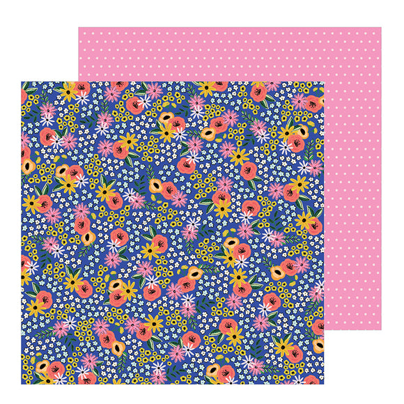 Pebbles Papers - Jen Hadfield - Hey Hello - Flower Patch - 2 Sheets