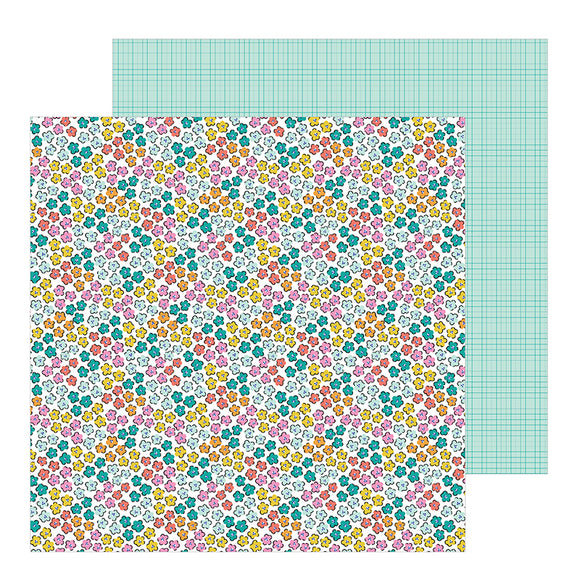 Pebbles Papers - Jen Hadfield - Hey Hello - Scattered Blossoms - 2 Sheets