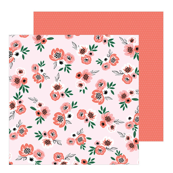 Pebbles Papers - Jen Hadfield - Hey Hello - Blushing Blooms - 2 Sheets