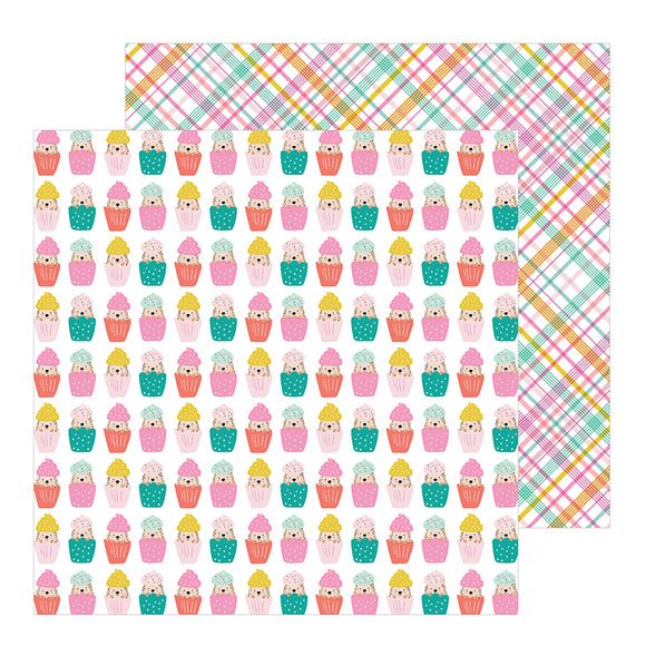Pebbles Papers - Jen Hadfield - Hey Hello - Cupcake Surprise - 2 Sheets