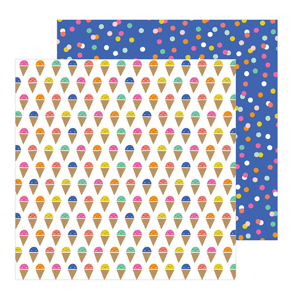 Pebbles Papers - Live Life Happy - Scoops - 2 Sheets