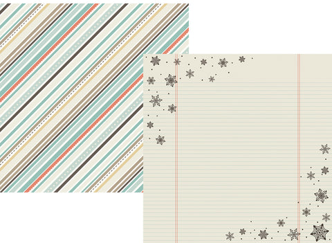 Simple Stories Papers - Winter Wonderland - Frostbite - 2 Sheets
