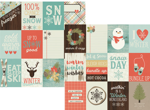 Simple Stories Papers - Winter Wonderland - 3x4 Elements - 2 Sheets