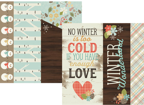 Simple Stories Papers - Winter Wonderland - 2x12,4x12,6x12 Elements - 2 Sheets