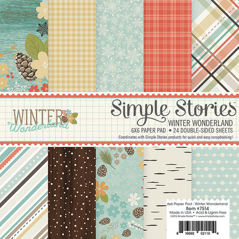 Simple Stories 6x6 Paper Pad - Winter Wonderland