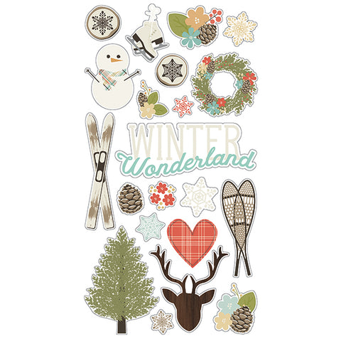 Simple Stories Adhesive Chipboard - Winter Wonderland