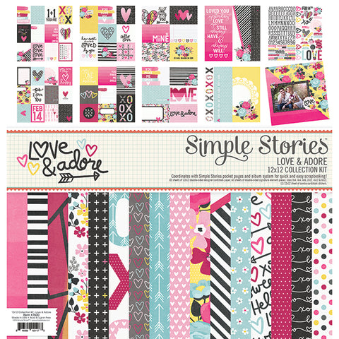 Simple Stories Collection Kit - Love & Adore