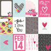 Simple Stories Papers - Love & Adore - 3x4 Elements - 2 Sheets