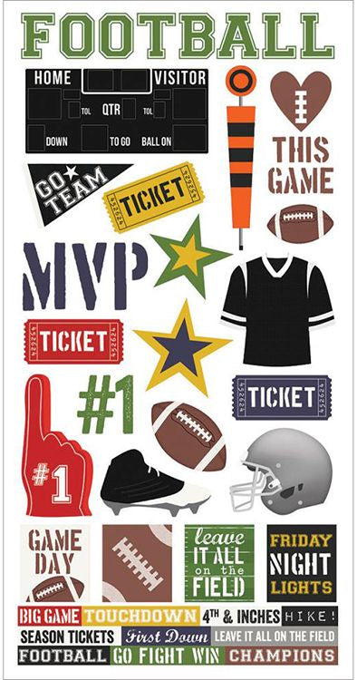 Simple Stories Cardstock Stickers - Football