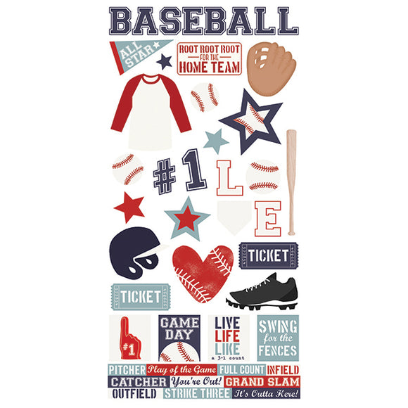 Simple Stories Cardstock Stickers - Baseball
