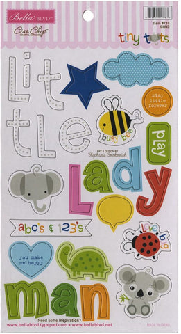 Bella Blvd Chipboard - Tiny Tots