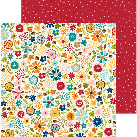 Bella Blvd Papers - Hello Autumn - Autumn Floral - 2 Sheets