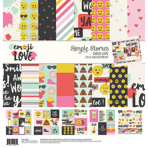Simple Stories Collection Kit - Emoji Love