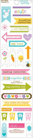 Bella Blvd Trinkets Cardstock Stickers - Simply Spring