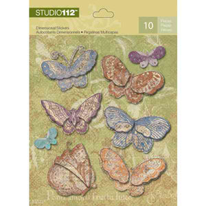 K&Company Studio 112 Dimensional Stickers - Butterfly