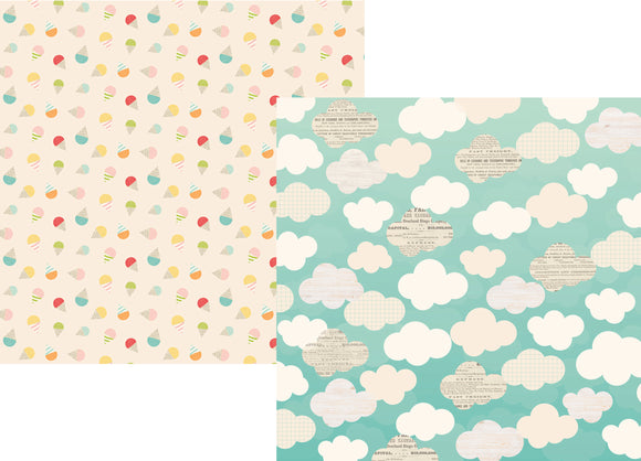 Simple Stories Papers - Summer Days - Beat the Heat - 2 Sheets