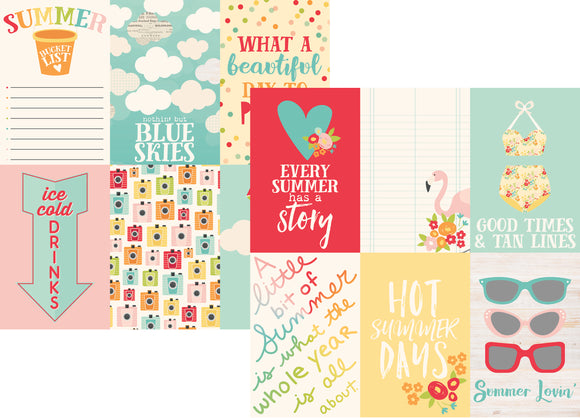 Simple Stories Papers - Summer Days - 4x6 Vertical Elements - 2 Sheets