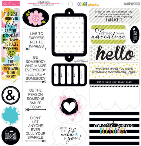 Bella Blvd 12x12 Cardstock Stickers - Color Chaos - Just Write