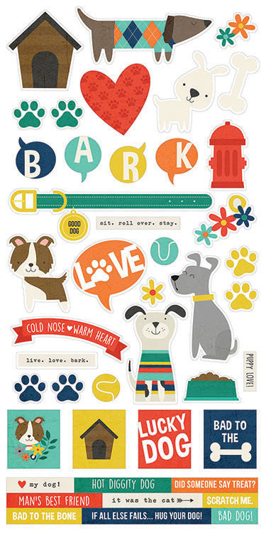 Simple Stories Cardstock Stickers - Life Is Ruff