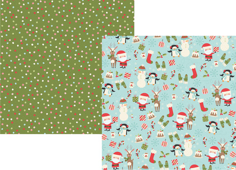 Simple Stories Papers - Oh What Fun - Hey Santa - 2 Sheets
