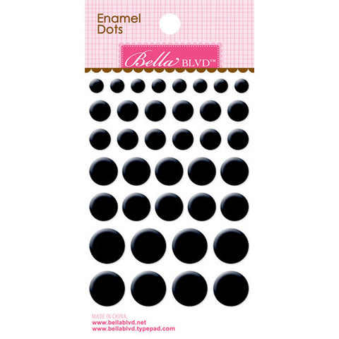 Bella Blvd Enamel Dots - Oreo Black
