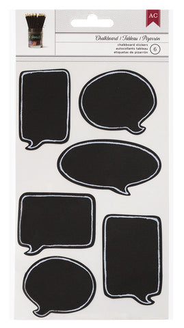 American Crafts Chalkboard Stickers - Speech